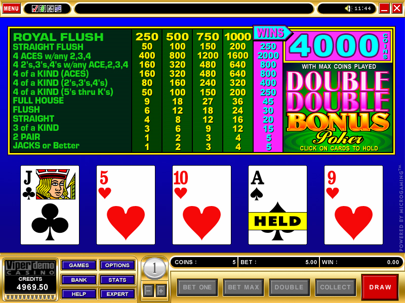 Double Double Bonus Poker Screenshot